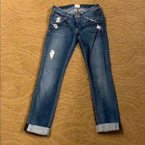 Hudson cropped cuffed jeans